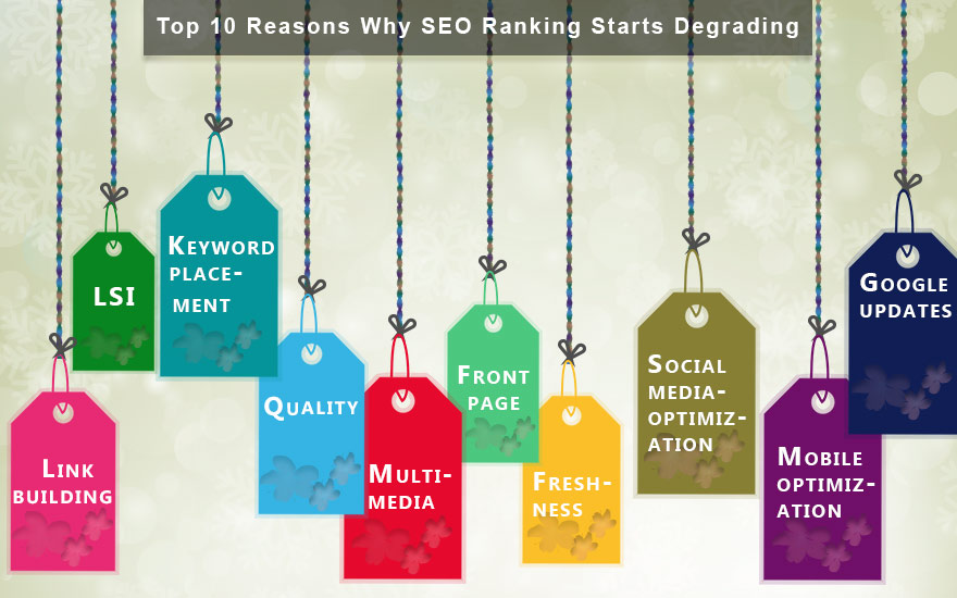 Top 10 Reasons, Why SEO Ranking Starts Degrading